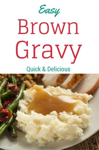 Easy Brown Gravy Recipe
