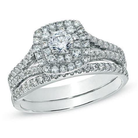 Celebration Grand® 1 CT. T.W. Diamond Frame Bridal Set in