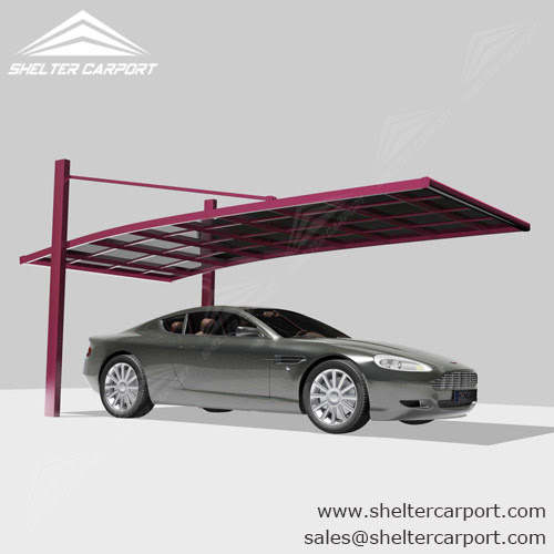 Straight Polycarbonate Panel Carport for Sale