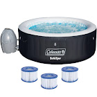 Coleman SaluSpa 71 x 26' Inflatable Spa 4-Person Hot Tub w/ 3 Filter