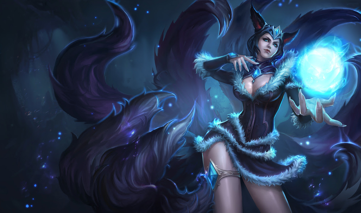 Midnight Ahri Skin Chinese League Of Legends Wallpapers