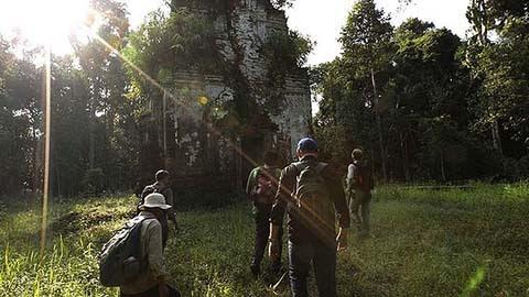 thành phố cổ, cổ đại, rừng sâu, Campuchia