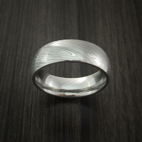 Damascus Steel Ring Wedding Band Genuine Craftsmanship
