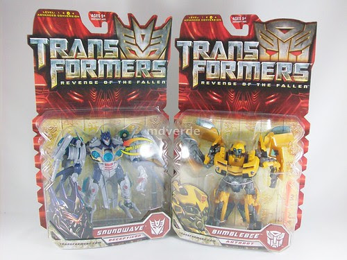 Transformers Soundwave y Bumblebee RotF Deluxe - cajas