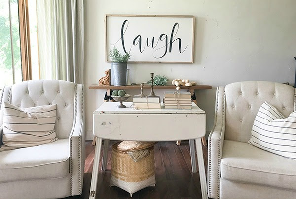 Farmhouse Living Room Summer Decor