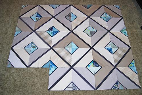 Urban lattice quilt along progress