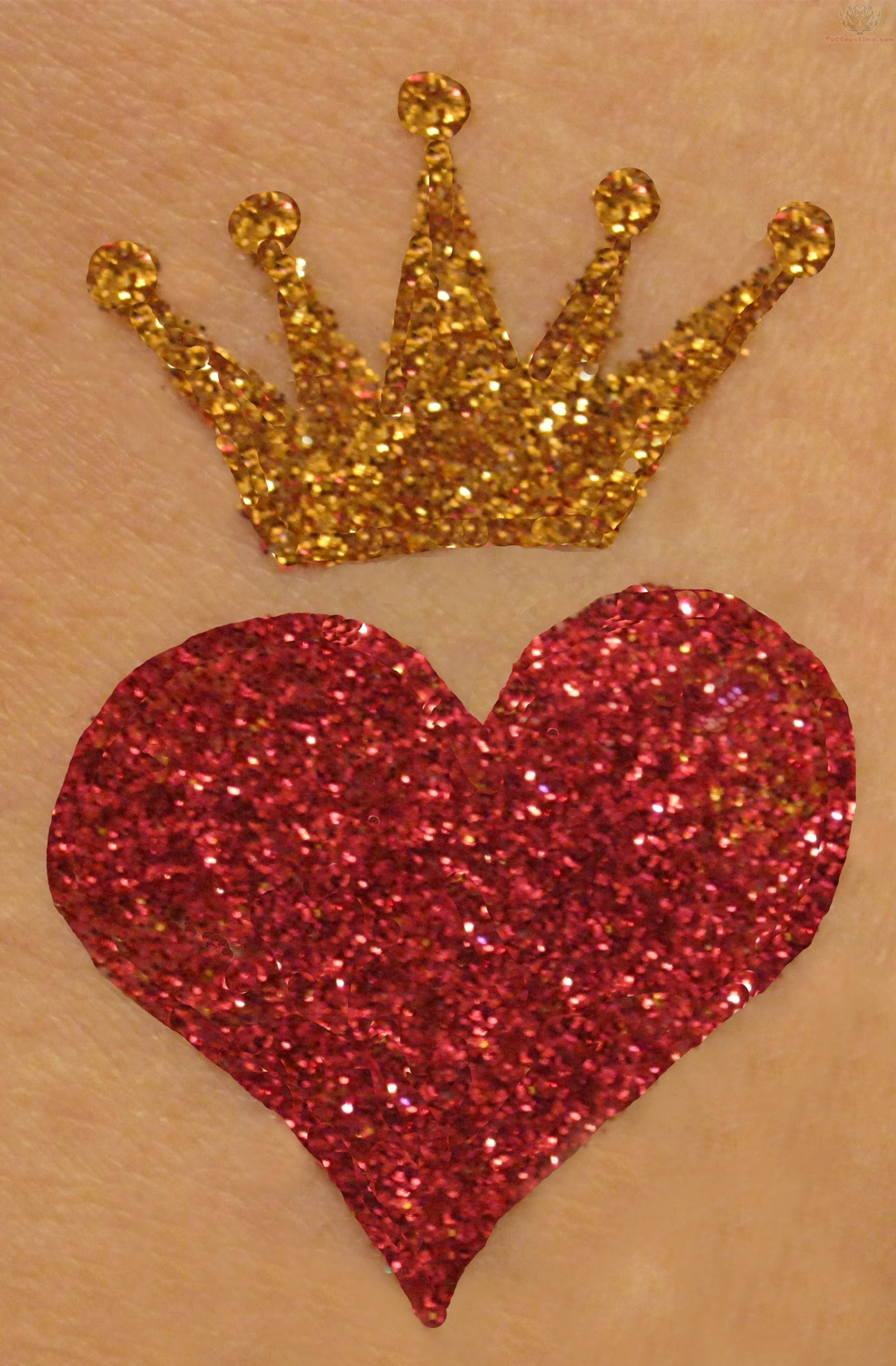 Heart With A Crown Tattoo Design
