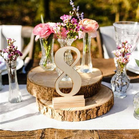 Wooden Table Numbers 1 ? 12 Free Standing ? Modern