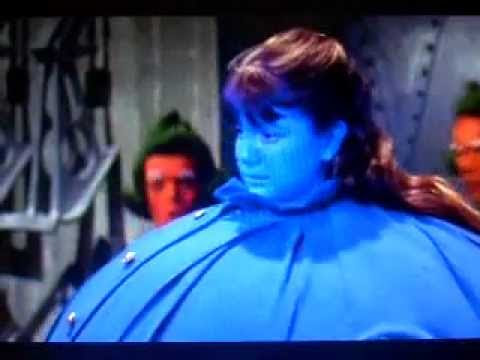 Violet Beauregarde - inspired manicure