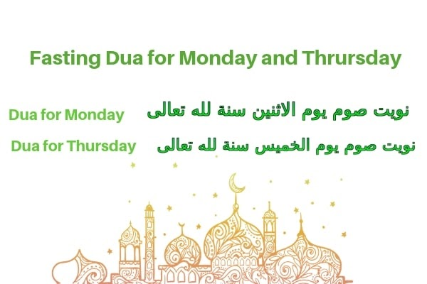 Niyyat For Fasting on Monday and Thursday 2019