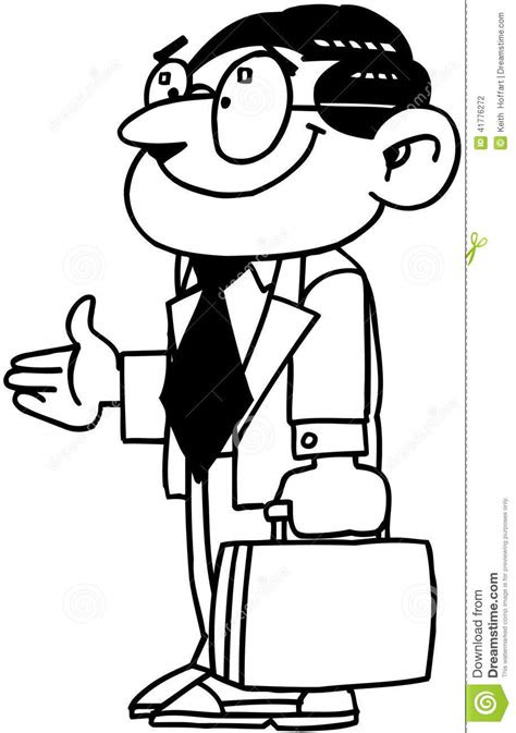 Business Man Cartoon Vector Clipart Stock Vector