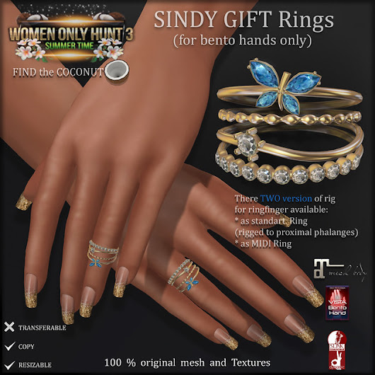 HUNT: SINDY Gift Rings (for bento Hands only)