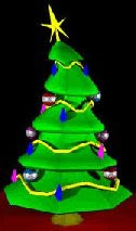 Sapin décoré pour un Joyeux Noel