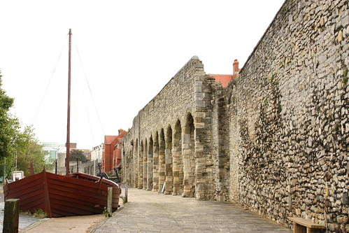 The Southampton Walls with historic boat display