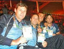 J/24 Argentina sailing team- at ODESU south american sailing games