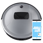 bObsweep PetHair Vision Wi-Fi Connected Robotic Vacuum and Mop (Silver) WVP56020