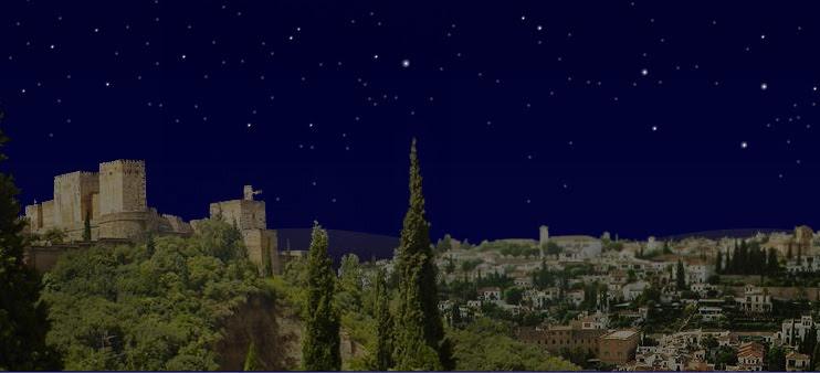 la alcazaba de noche