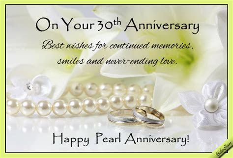 Pearl Anniversary Wishes. Free Milestones eCards, Greeting