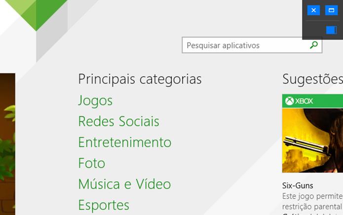 Botões adicionados pelo ModernMix nos apps do Windows 8 oferecem a troca de modo de visualização (Foto: Reprodução/Elson de Souza)