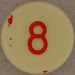 Plastic Bingo Number 8