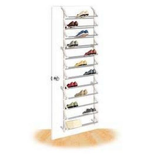 Lynk 36-Pair Over-Door Shoe Rack, White