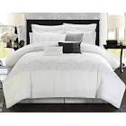 Chic Home Grace 8-Pc. Comforter Set, White, King