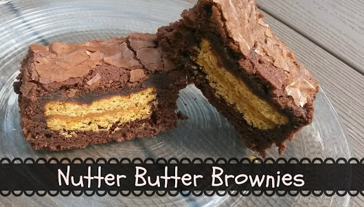 Nutter Butter Brownies - Sisters Saving Cents