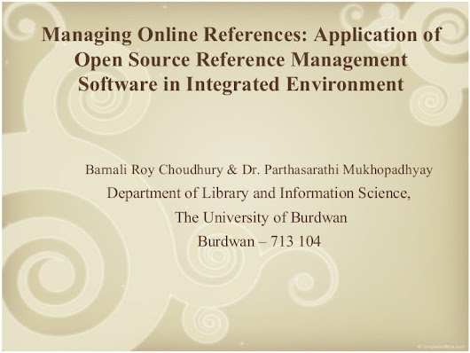 Managing Online References: Application of Open Source Reference Ma...