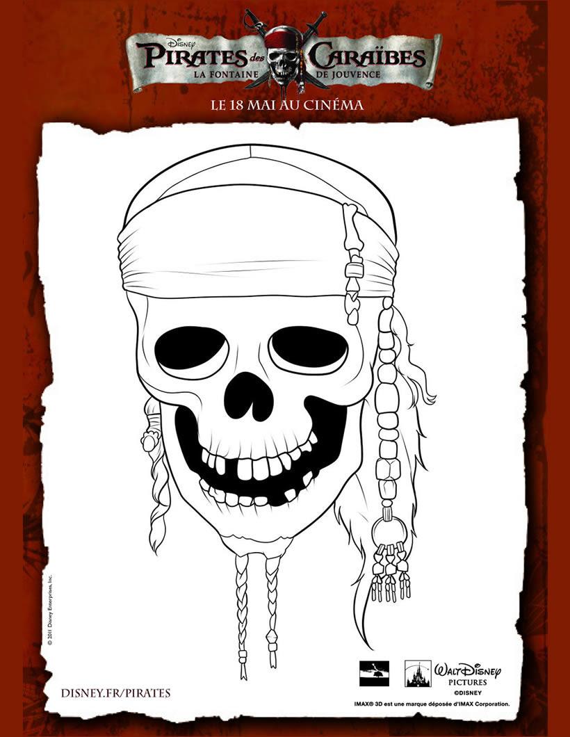 coloriage crane de pirates des caraibes de6