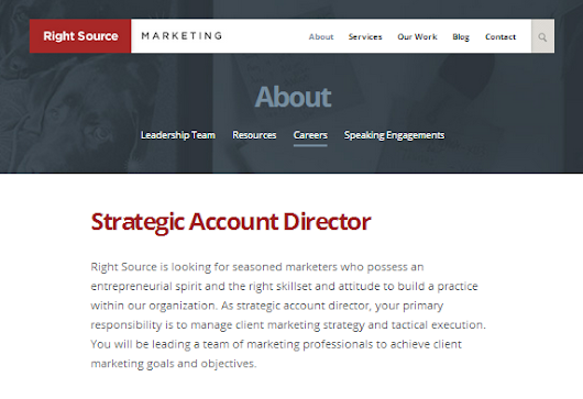 Strategic Account Director - Right Source Marketing