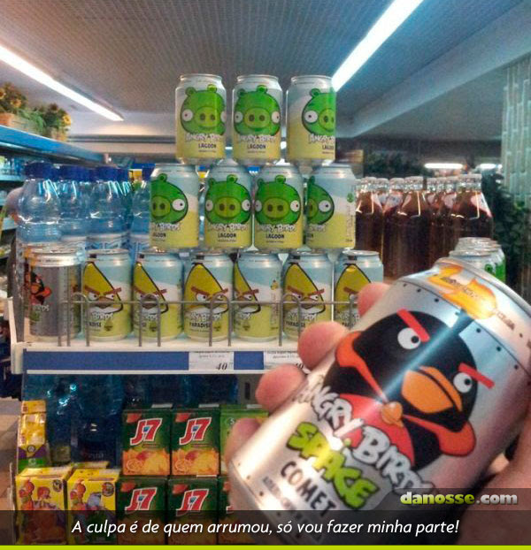 Angry birds no supermercado!