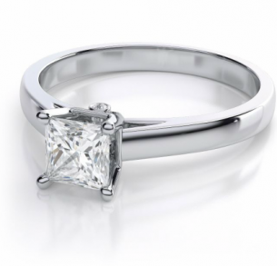 Sweetheart Diamond Solitaire Engagement Ring