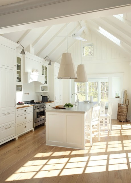 Coastal Loft Sun-Drenched Kitchen - beach style - kitchen - boston ...