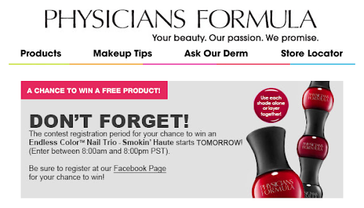 Today Only – Enter To Win A FREE Physician's Formula Endless Color Nail Trio! (1,000 Winners!)