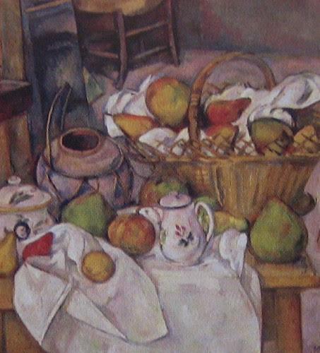 Kitchen Table (Still Life with Basket), Paul Cézanne, 1888-1890,  Musée d'Orsay, De Young Museum, San Francisco