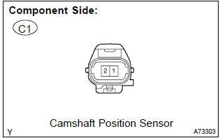 Toyota Corolla Repair Manual Inspection Procedure Camshaft Position Sensor A Circuit Sfi System Diagnostics