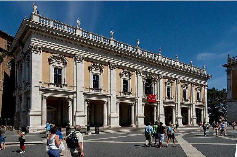 Fichier:Facade Palazzo Nuovo Roma.jpg