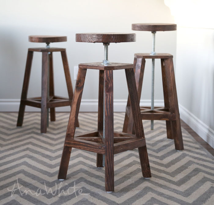 http://www.ana-white.com/2015/01/free_plans/industrial-adjustable-height-bolt-bar-stool