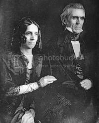 First Lady Sarah Polk and President James Polk