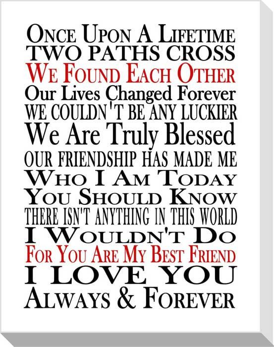 You Are My Best Friend Framed Canvas Art