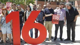 Rufián i Tardà han reclamat, en un acte amb joves, el vot a partir dels 16 anys (EFE)