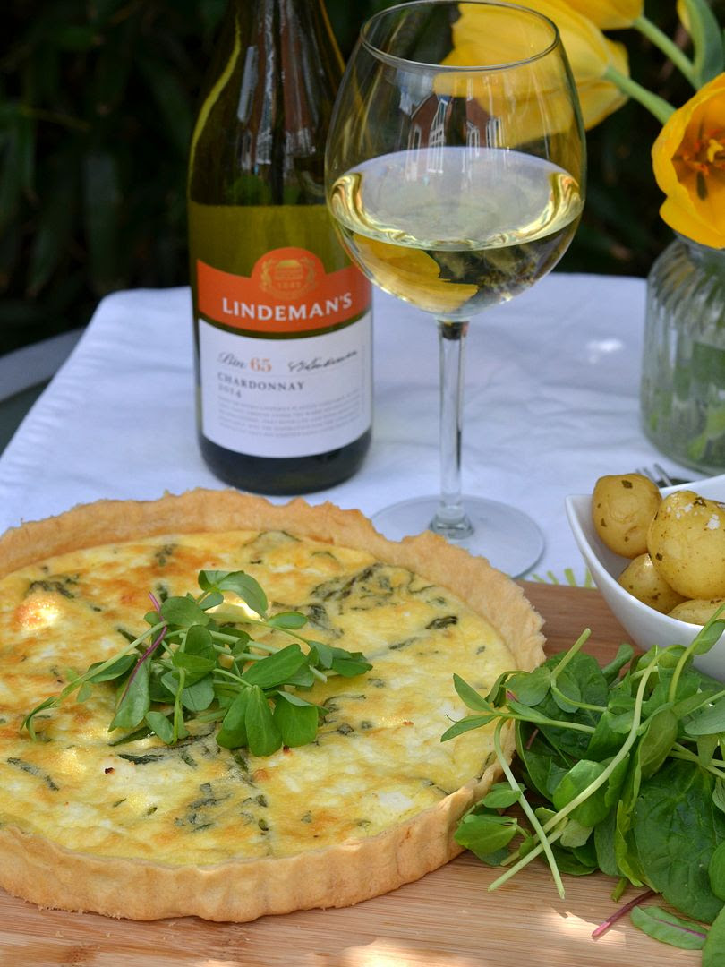 Minted Asparagus & Ricotta Tart