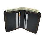 Walleteras Hand Stitched Wallet in Crazy Horse Leather - CV2 Black