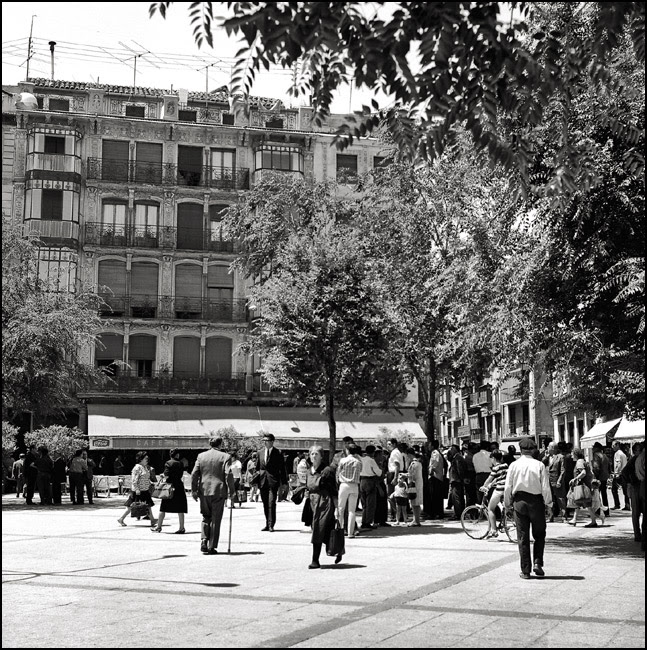 Café Español de Toledo en 1967. Fotografía de John Fyfe