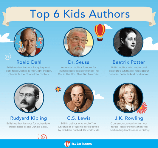 Our Favorite Top 6 Kids Authors! – by Red Cat Reading