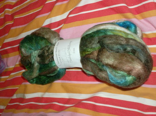 Hand dyed Etsy silk roving