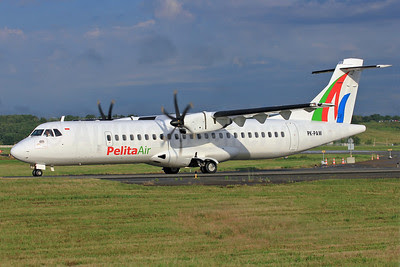 Pelita Air Service ATR 72-500 (ATR 72-212A) PK-PAW (msn 746) TLS (Eurospot). Image: 912538.