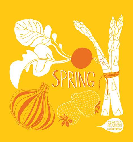 Spring tote yellow design