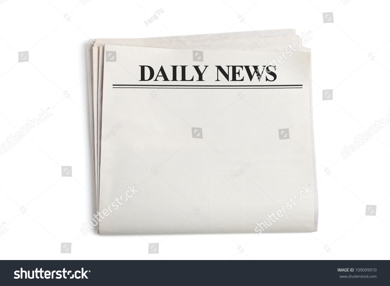 Daily News Blank Newspaper White Background Stock Photo 109099910 ...