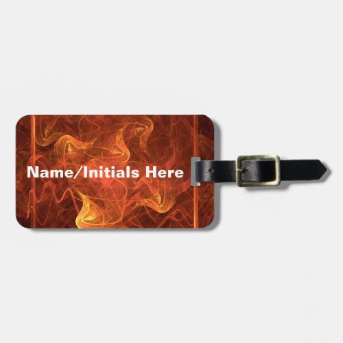 Flames Over Black Travel Bag Tags
